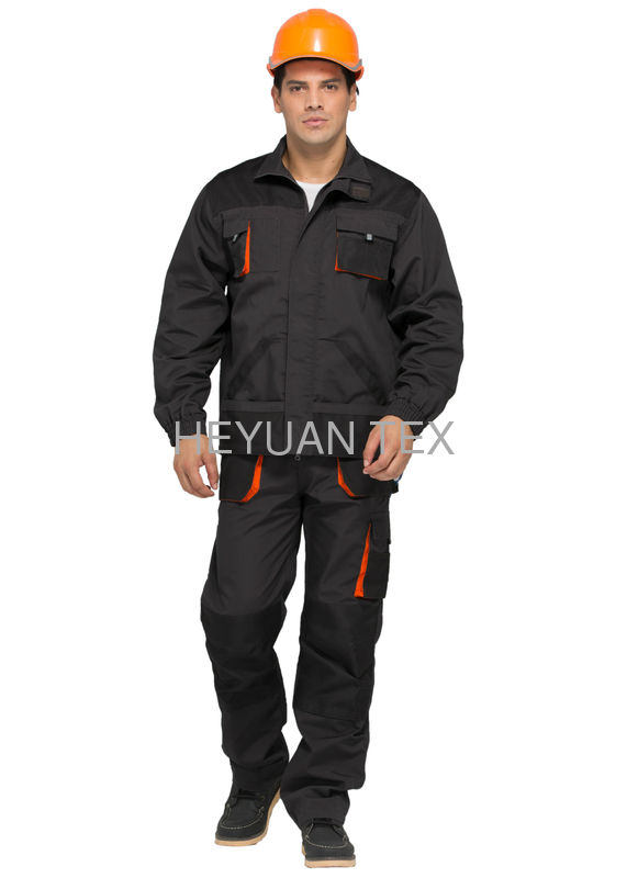 Hardwearing Classic Industrial Worker Uniform With 65% Polyester 35% Cotton Canvas