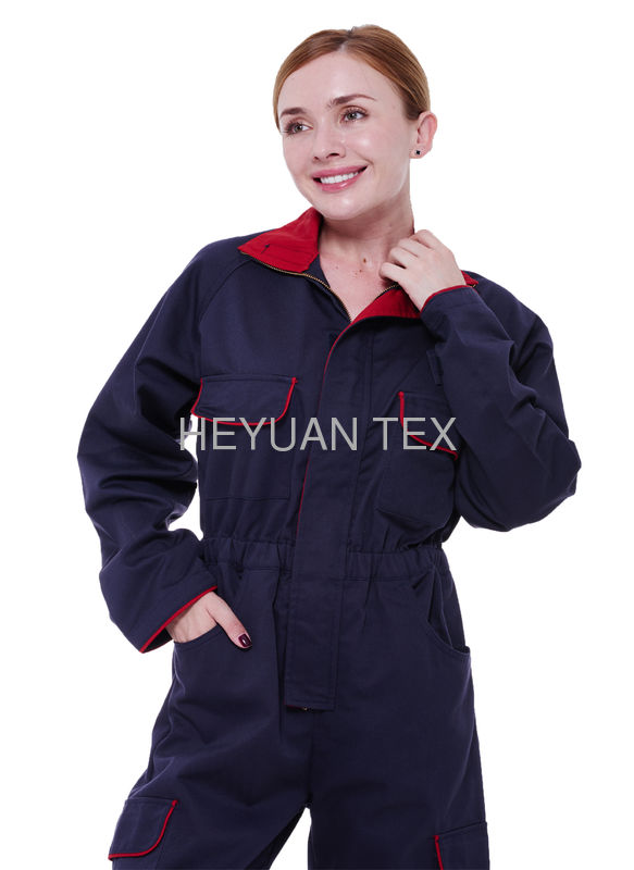 Unisex Heavy Duty Overalls / Work Clothes Coveralls With Brass YKK Zipper
